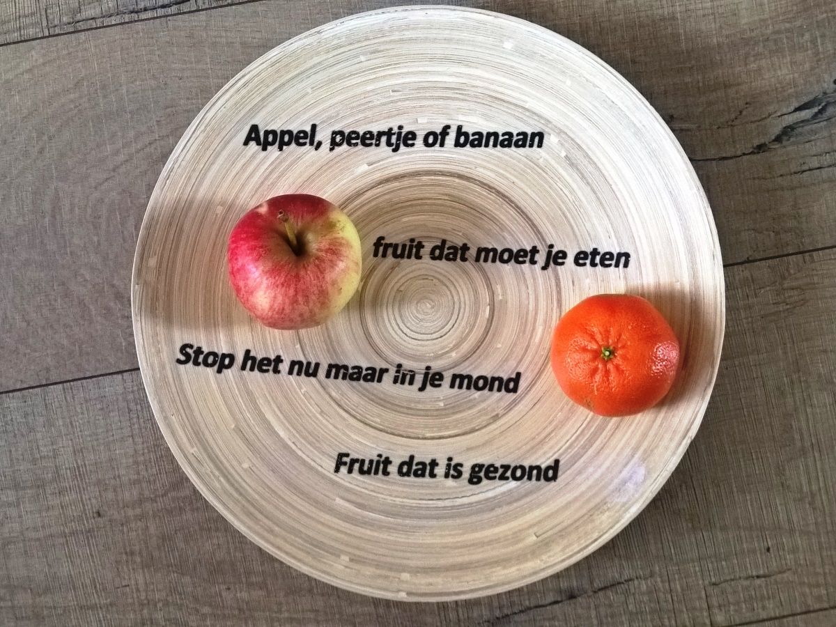 Fruitschaal Appel Peertje